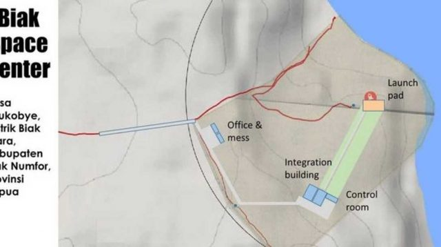 Grafis tempat peluncuran satelit di Biak, Papua. (LAPAN)