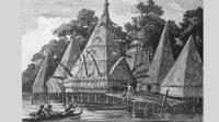 Lukisan Kampung Tobati tahun 1887 (Das Pfahldorf)