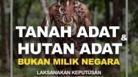 Tanah Adat dan Hutan Adat -Ilustrasi