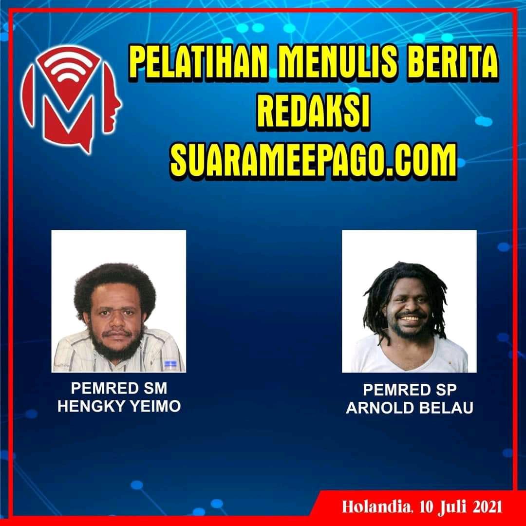 Hengky Yeimo dan Arnold Belau Transfer Ilmu Jurnalistik -Doc.Suara Mee